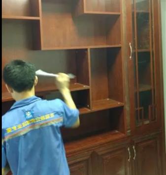 左右手与合木之家衣柜安装项目