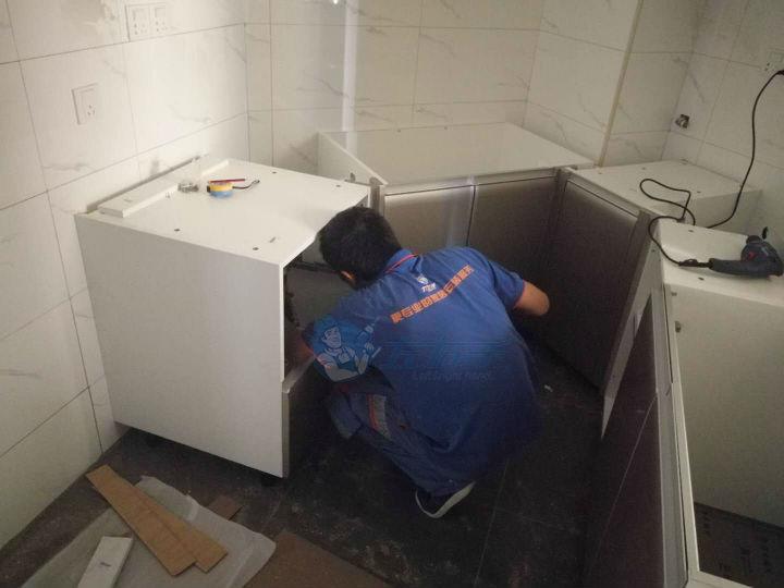 板式橱柜安装—长城盛世家园一期安装案例