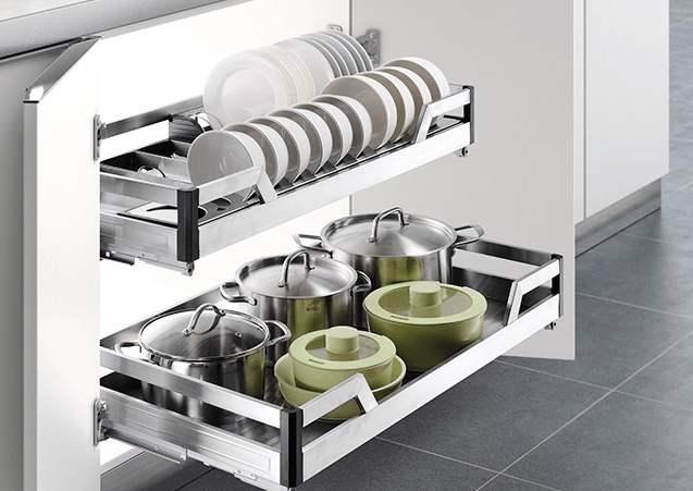 橱柜拉篮托盆安装方法,手把手教你装家居